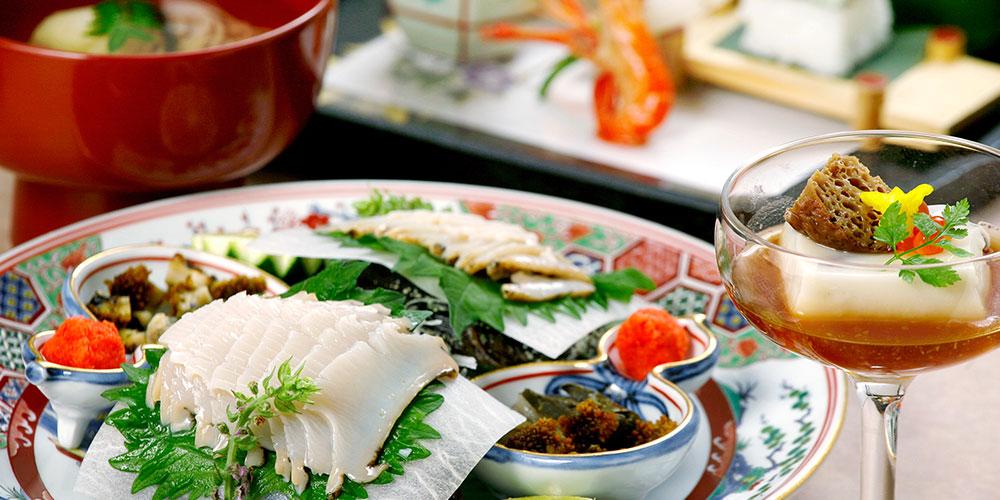 山口・萩の豊かな旬の恵み。季節の色をひと皿に映して。