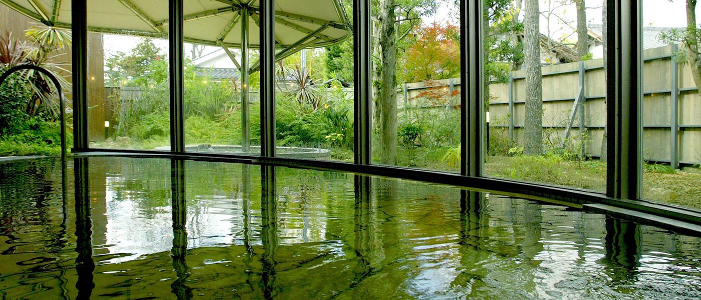 四季の花めぐり湯室内イメージ画像 山口県萩市 北門屋敷