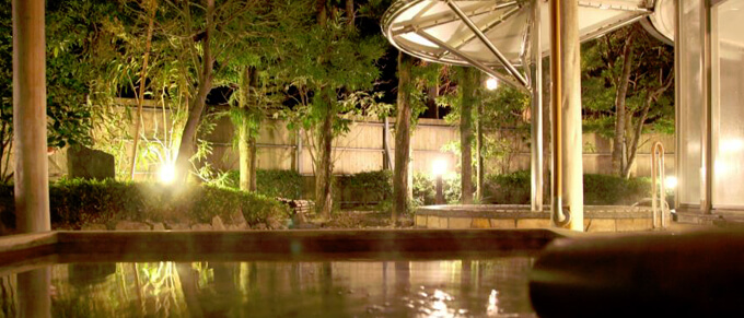 四季の花めぐり湯 露天風呂イメージ画像 山口県萩市 北門屋敷