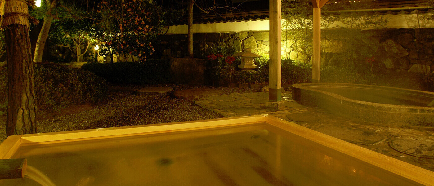 白壁の湯[大浴場]露天風呂 | 山口県萩市 北門屋敷