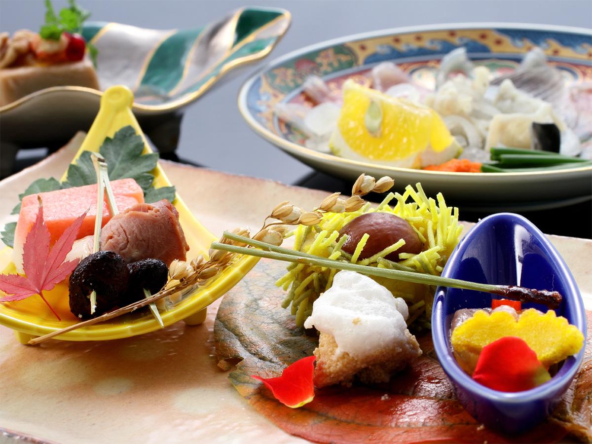 【四季彩々・特選】料理長厳選食材を食す特選味覚プラン。旬の地魚にブランド牛「長萩和牛」、山海の幸満喫