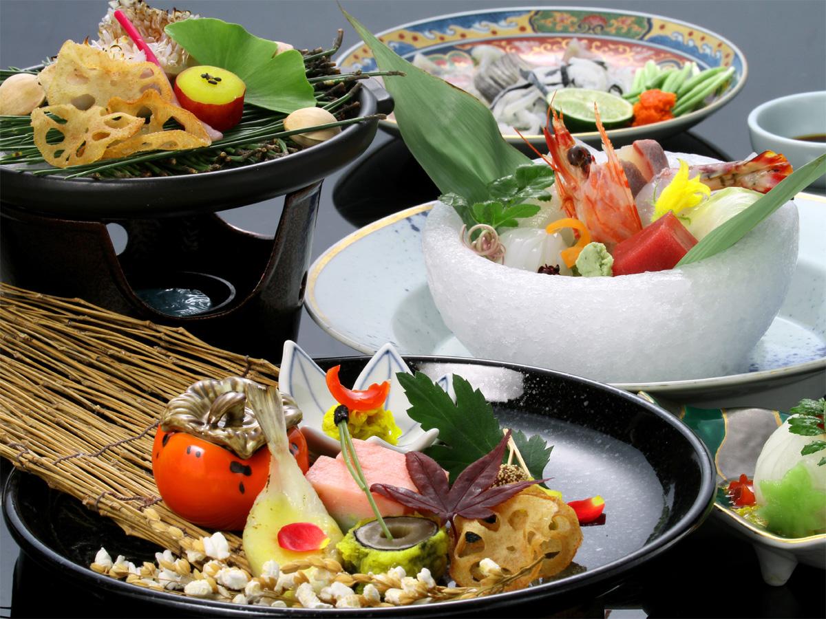 【四季彩々】基本から特選まで、旬を味わう和会席♪日本海の幸、特選和牛、食を堪能。